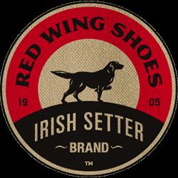 Transparent Red Wing Shoes Irish Setter Brand Logo