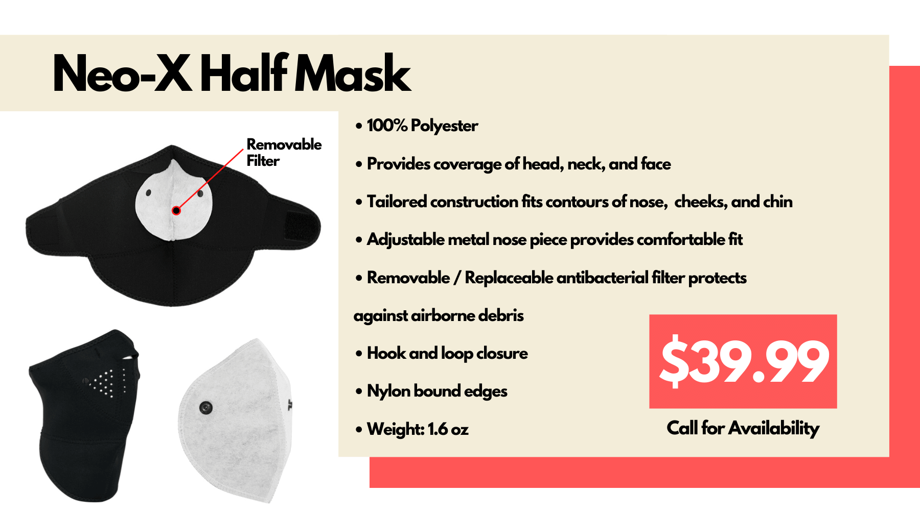 EMCO Neo-Half Mask with Removable Filter