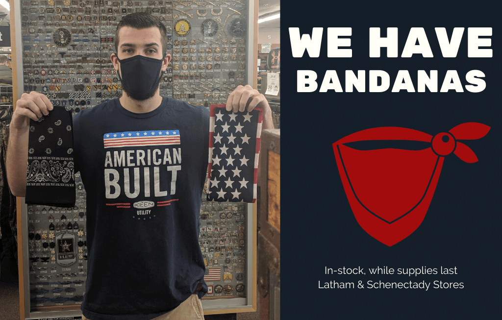 bandanas for face masks on sale at mohawk army navy