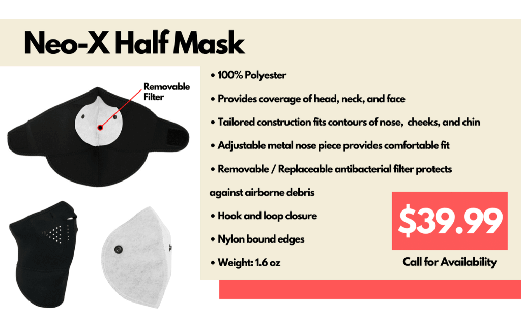 Neo Half-mask for sale at mohawk army navy